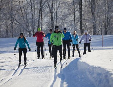 Cross-country skiing course