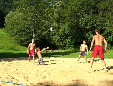 Beachvolleyball court East Bank Walchsee