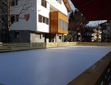 Ice skating rink in Kössen