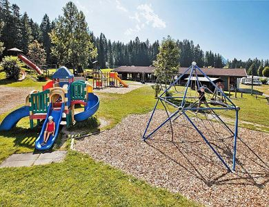 Children's playing area at Eurocamp