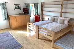 Double room, shared shower/bath, 4 or more bed rooms
