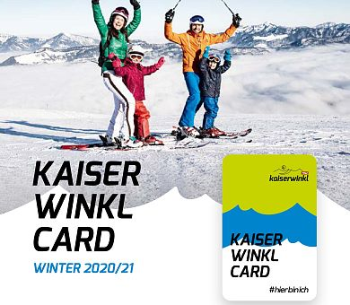 Kaiserwinkl-Card Broschüre Winter