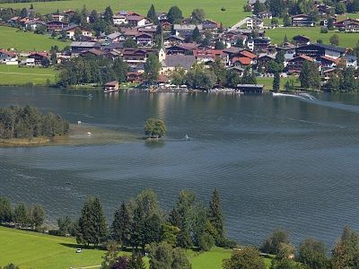 Walchsee lake and village