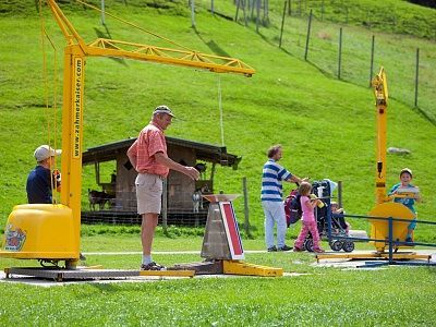 Playground at Zahmer Kaiser in Walchsee, Tirol, Austria