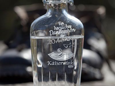 Kaiserwinkl bottle of schnapps Gift Guest reward